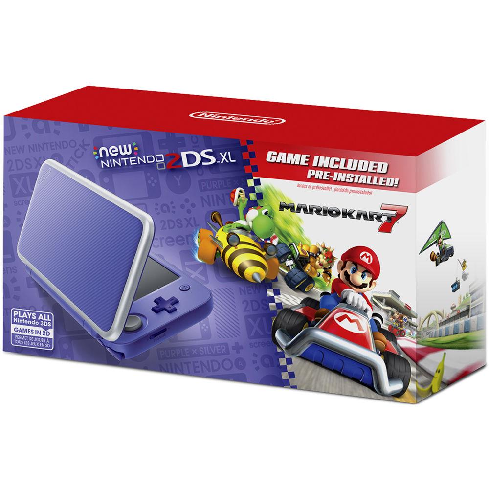 Consola Nintendo 2ds Xl Morado Y Gris Mario Kart 7 Tienda
